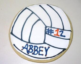 Volleyball Cookies 2 dozen
