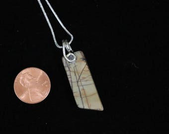 Cherry Creek Jasper pendant in Sterling silver