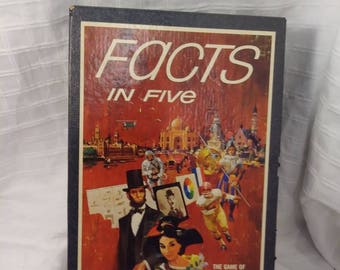 Facts In Five Vintage Game 1967 3M