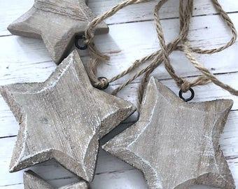 Hanging Rustic Stars Christmas Home Decor