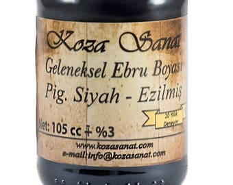 Ebru Marbling Paint Colors-Pigment Black 105cc (Koza)
