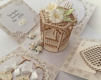 Handmade Wedding Exploding Box card