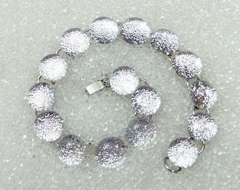 Bracelet in Sparkling Silver Dichroic Glass, Ice Snow Jewelry, Mermaid Tears, Winter Jewelry, Link Bracelet, Silver, White, Holiday Bracelet