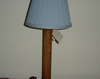 Lamp Wooden Spindle Table