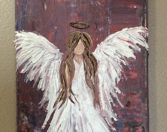 8x10 Acrylic Painting of an angel
