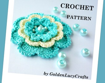 Irish Rose CROCHET PATTERN, Applique, PDF File