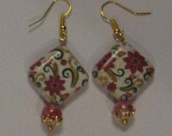 Floral Tile Earrings