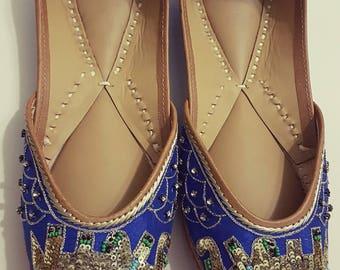 20% off Elephant haathi sequins Punjabi Juttis Khussas Ballerinas shoes flats bridal party wear gypsy boho
