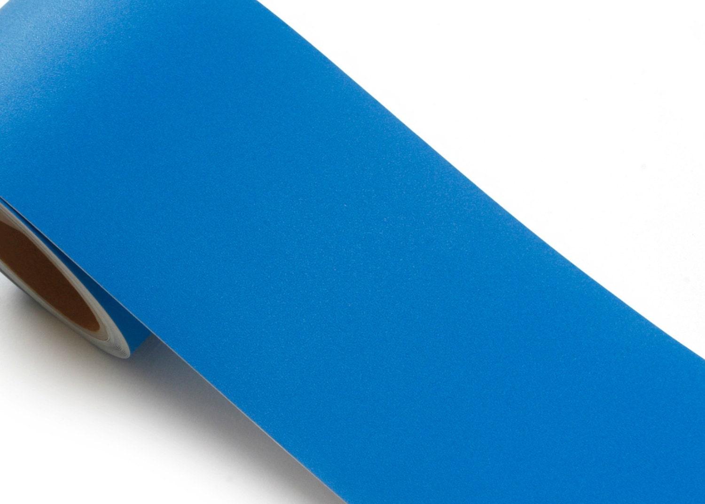 Peel & Stick Flame Retardant Border Sticker Solid Blue Contact