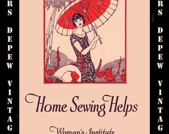 Vintage Sewing Book 1920's Home Sewing Helps Ebook How To for Dressmaking and Home Decor -INSTANT DOWNLOAD-