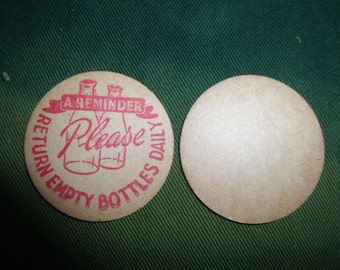 Original WW2 1940's Paper Milk Bottle Tops - MINT Condition (Pack of 5)