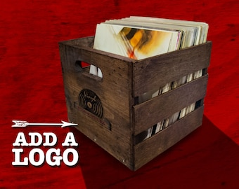 Stackable Vintage Record Crate - Holds 70 LP's