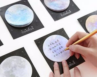 Moon Planet Sticky Notes Stickies post it