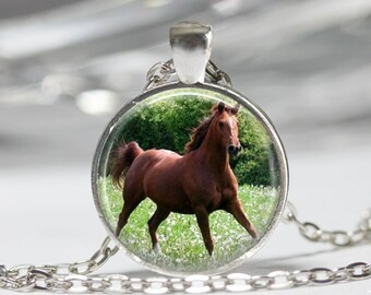 Horse Necklace Pendant Wearable Art Horse Jewelry Equine Jewelry