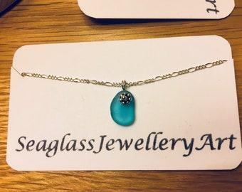 Turquoise Sea Glass Bracelet