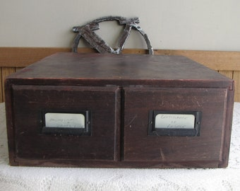 Weiss Card Catalog Box Old Wood Boxes Vintage Boxes and Tins