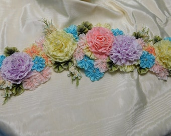 Summer Flowers Cool Colors Millinery Applique