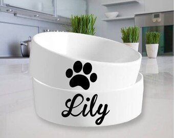 pet name personalized, animal decals, vinyl decals for pets, pet stocking gift, pet name decals, *decal only DISH NOT INCLUDED*