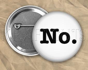 No. Pinback Button Flair #B76