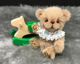 "Artist Bear  ""Dexter""- Teddy bear OOAK Miniature teddy bear"
