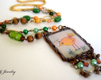 "Whimsical Moments ""Crazy Bird"" Necklace"