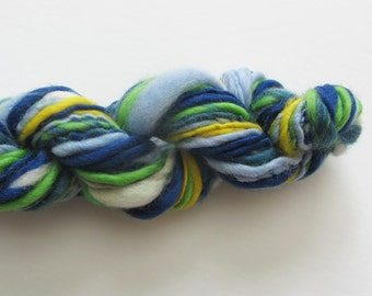 Trains 'n Planes.  Handspun Merino varying texture- 1 ply