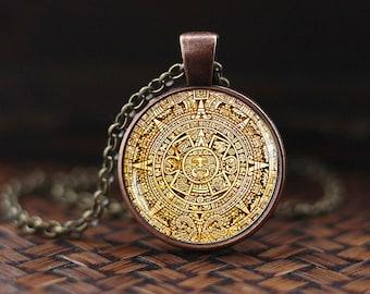 Mayan calendar pendant mayan calendar jewelry aztec calendar mayan calendar pedant mayan calendar jewelry aztec calendar necklace mayan pendant mayan aloadofball Image collections