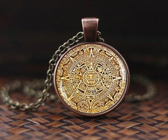 Mayan calendar pedant mayan calendar jewelry aztec calendar aloadofball Images