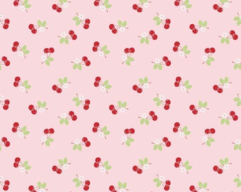 Riley Blake - Sew Cherry 2 - Sew 2 Cherry on Pink by Lori Holt