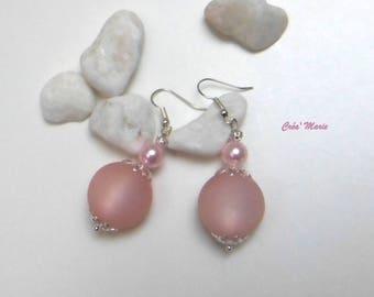 Pink soft Bo157 earrings