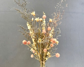 Composition of dried flowers bouquet