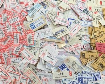 Vintage registered mail labels