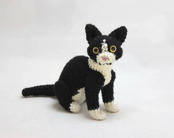 Black and White Cat Doll