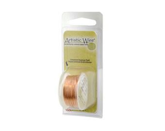 Artistic Wire 30 Gauge Bare Copper with Dispenser 43090 Round Wire, Jewelry Wire, Craft Wire, Bare Copper Wire, 30ga Soft Temper Wire