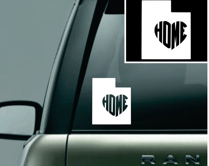 Utah Love Your State Car Decal
