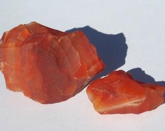 Raw Carnelian Agate Chunk (1) Mineral Specimen Unpolished Rocks and Minerals