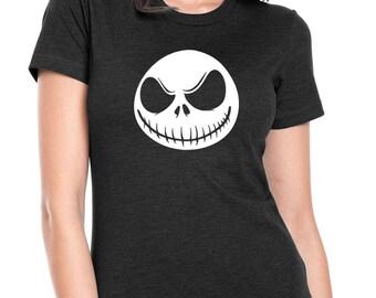 "Nightmare Before Christmas ""Jack Skellington"" Womens Jr. Fit T-Shirt"