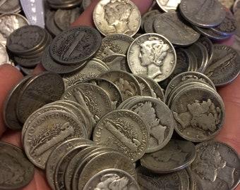 U.S. Silver Mercury Dimes