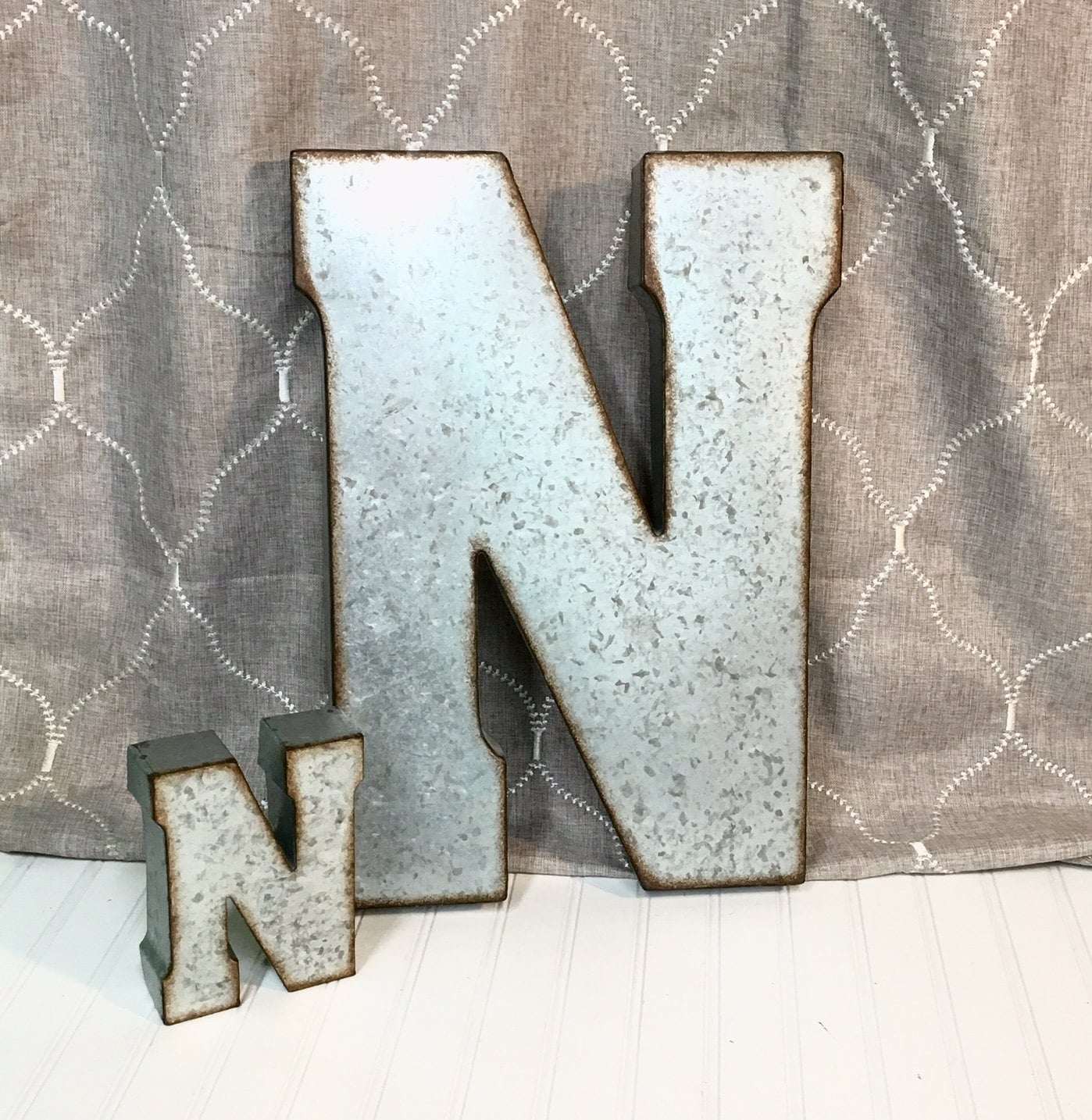 Large Metal Alphabet Letters Amusing Metal Lettersletter Nlarge Metal Design Decoration