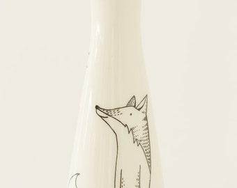 Ceramic Vase - Happy Fox