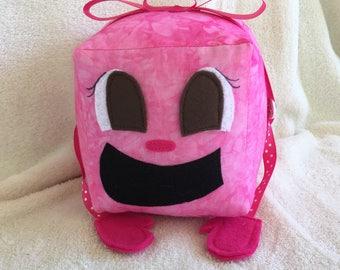 "Tiny Box Tina Plushie! Plush Toy. 6"" cube, Pillow. Markiplier Youtuber."