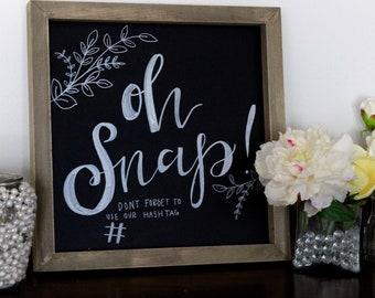 Custom Handwritten Wedding Chalkboard Sign