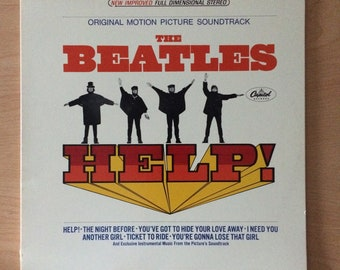 The Beatles - HELP! LP Vinyl Record Album from the 1960s