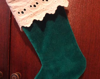 Small Stocking Christmas Ornament Mini Stocking - Atlantic Rock Threads
