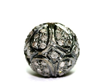Silver Carved Ball