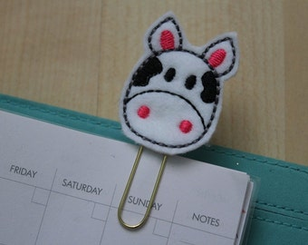 Moo the Cow Felt Planner Clip - Paper Clip - Bookmark