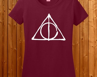 Deathly Hollow T-shirt - Harry Potter Tshirt , Harry potter Deathly Hollow symbol shirt , Deathly Hallow t-shirt for Birthday Gift SM-00117