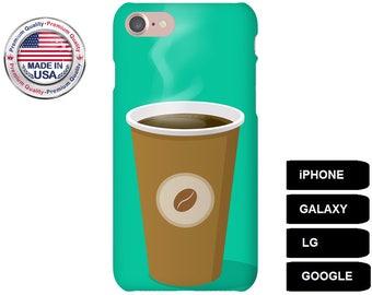 Coffee Phone Case, Phone Case Coffee, Coffee iPhone Case, Coffee Galaxy Case, Coffee Google Pixel Case, Galaxy S8 Plus Case, LG G5 Case