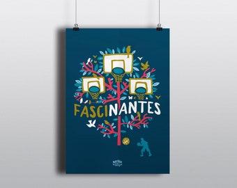 Poster illustration fascinating/Nantes (A3/A4)