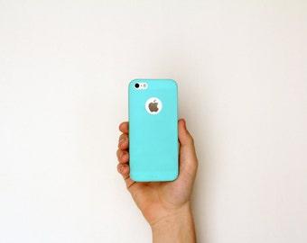 Apple iPhone 5 5S Ultra Thin Slim Minimalist Skin Case Navy Blue Glacier